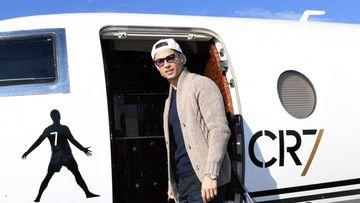 Cristiano, el futbolista con el avión privado más caro. Foto: Instagram