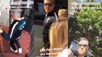 Robbie Williams escapa de un hotel en llamas en Londres.