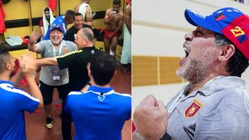 La celebración de Maradona por ver cerca su ascenso