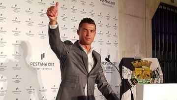 Cristiano Ronaldo en el Pestana CR7 de Lisboa.