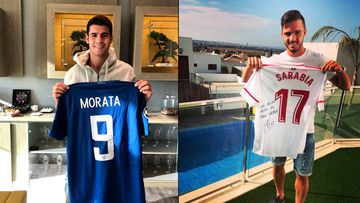 Morata sigue a Sarabia para apoyar #Futbol1Sismo0