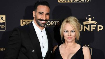 Pamela Anderson y Adil Rami en la Gala UNFP del 16 de mayo del 2019.