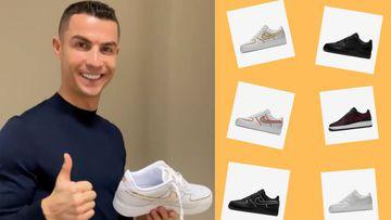 Los seis modelos de zapatilla diseñados por Cristiano Ronaldo y Nike.