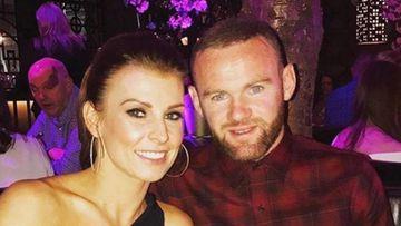El futbolista Wayne Rooney con su mujer Coolen.