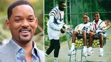 Imágenes del actor Will Smith y de las tenistas Venus y Serena Williams cuando eran pequeñas en uno de los entrenamientos de su padre, Richard Williams.