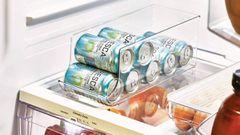 Ordena tu nevera con este organizador de latas con capacidad para nueve envases