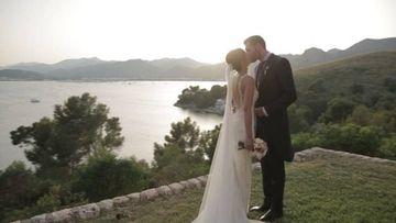 Helen Lindes y Rudy Fernández cumplieron el pasado 4 de julio su primer año de casados y la modelo quiso compartir en Instagram un fragmento del vídeo de su boda celebrado en Sa Fortaleza de Pollensa (Mallorca). @helenlindesgrif