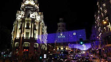 Madrid iluminada para el Puente de Diciembre
