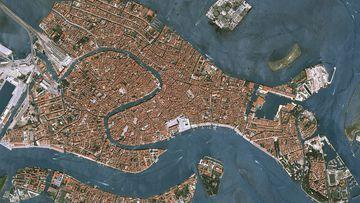 Venecia vista desde un satélite.